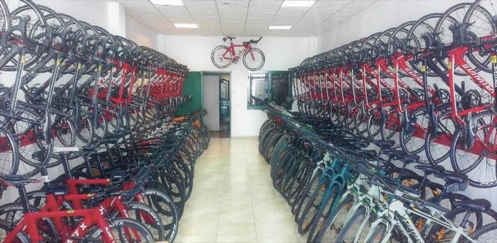 Racked up bikes
